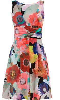 Dorothy Perkins Blurred Flower Prom Dress