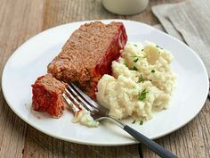 Sunny's Meatloaf and Potatoes : Sunny uses a combination of ground pork and ground dark-meat turkey for her juicy meatloaf.