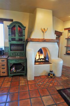 Would love to have a fireplace in the kitchen/dining area again.