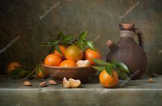 Znalezione obrazy dla zapytania bodegon con cesta y mandarinas