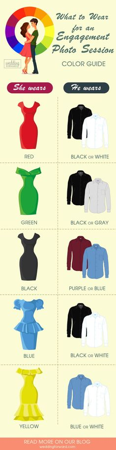 guide what to wear for an engagement-photo session Infographic