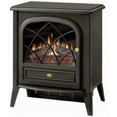 This Black Compact Stove Style Electric Fireplace Space Heater with 3D Flame delivers a traditional appearance and soothing flame in a small package. No need to worry about chimney fires, expensive fu