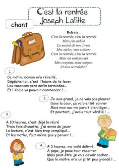 French Language Lessons, Joseph, French Immersion, Chant, Business For Kids, Back To School, Teaching, Education, Busy Bags