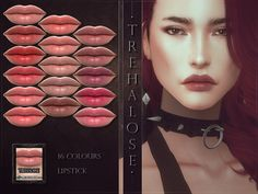 Trehalose Lipstick by RemusSirion for The Sims 4 Sims 4 Mm Cc, My Sims, The Sims 4 Download, Sims Community, Sims 4 Cc Finds, Sims Resource, The Sims4, Sims 4 Mods, Sims 4 Custom Content