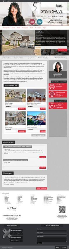 Sylvie Sauvé - courtier immobilier #SUTTON #Aliquando #immobilier #vendre #acheter #maison #habitation #web #webdesign http://sylviesauveimmobilier.com/