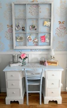 Shabby Chic  Vintage Inspired Office Nook