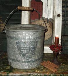 Old Vintage Metal Minnow Bait Fishing Bucket by applebarrelprims, $12.95