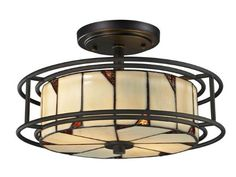 Dale Tiffany TH12456 DT Contempo Woodbury Semi Flush Mount Light Fixture Dark Bronze *** Locate the offer simply by clicking the image