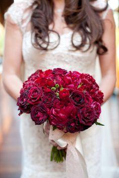#bouquet, #rose  Photography: Jesse Leake Photography - jesseleake.com Event Planning: Alison Events, LLC - alisonevents.com Floral Design: Brown Paper Design - brownpaperdesign.com  Read More: http://www.stylemepretty.com/2012/05/09/calistoga-ranch-wedding-by-alison-events-llc/