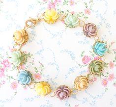 Bloom - Gold Flower Bracelet - Whimsy - Whimsical - Romance - Bridal by NestingPretty #TrendingEtsy