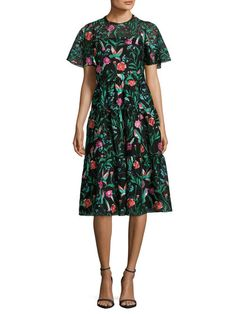 Jardin Embroidered Lace Dress by kate spade new york