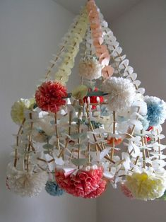 Pajacki. Paper chandeliers, mobiles from Poland. Every little girls room should have one. Every room should have one!