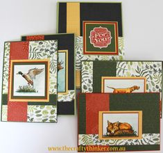 Stampin Up, #thecraftythinker, The Wilderness Awaits, Masculine cards, Gift pack of cards