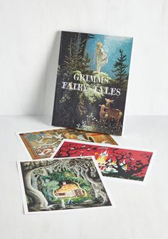 Future Is Grimm Print Set. With these Brothers Grimm posters on your horizon, you have a guarantee of smiles and swoons ahead of you! #multi #modcloth