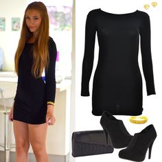 Black Bodycon Dress Outfit