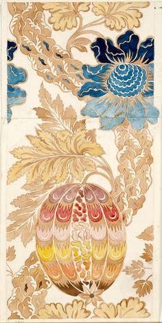 Anna Maria Garthwaite – Design for a woven silk, 1733; Watercolour on paper