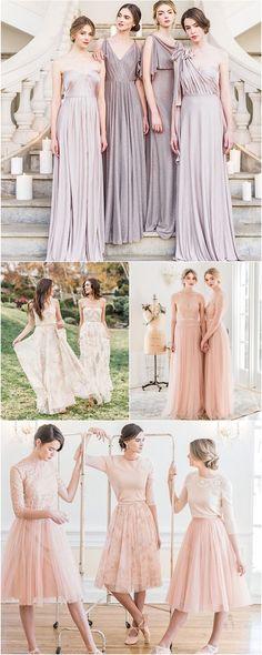 Gorgeous Jenny Yoo bridesmaid dresses.