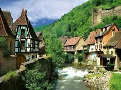 Kaysersberg, medieval town, France...I can see Belle singing through town ;)