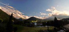 Ausblick auf Riezlern und Kleinwalsertal vom Balkon des Hotel Pension Gatterhof Mountains, Nature, Travel, Double Room, Summer Vacations, Balcony, Places, Voyage, Viajes