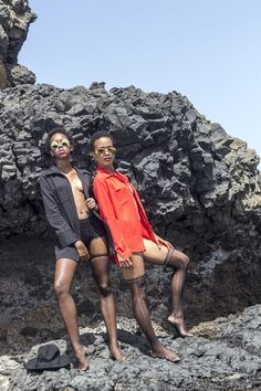 Hot Shots: To Gomes Models Hit The Cape Verdean Beaches | FashionGHANA.com: 100% African Fashion Models: Siviane Lopes & Carla Tavares