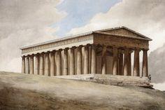 Theseion [Temple of Hephaestus] by Louis Dupré. Ancient Greek Theatre, Athens Acropolis, Monuments, Portraits, Southern Italy, Ottoman Empire, Built Environment, Environmental Art, Europe