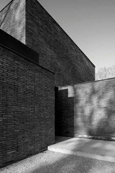 Brick volumes. D Residence by Vincent van Duysen. Photo by Koen van Damme.