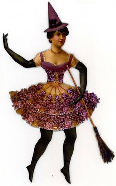 EKDuncan - My Fanciful Muse: Purple Witch - If the Broom Fits...Ride It.! Free printable available on site to make your own :-)