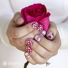 Ruby Rose Mother's Day Gift Set. With three exclusive nail wraps, Rose, Delight, and Dearest, and the exclusive Ruby nail lacquer, this gift set includes toe separators and a pumice stone.   Jamberry wraps | nail art | Spring Summer catalog 2015 | Mother's Day gift