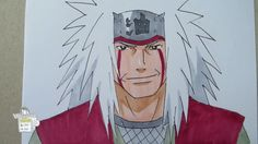 How to draw Jiraiya Legendary Sannin 自来也 Naruto Drawings, Sketches, Drawing Ideas, Anime, Tutorials, Fictional Characters, Tattoos, Youtube, Draw