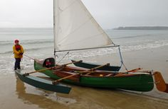 sailing canoe with outriggers