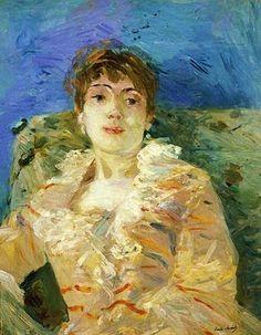 Berthe Morisot (French artist, 1841-1895). Girl on a Divan, c 1885