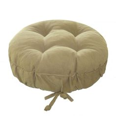 Corduroy Pinwale Beige Bar Stool Cover with Cushion and Adjustable yoke