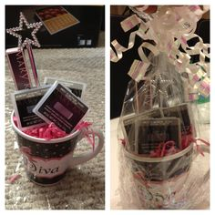 Mary Kay Products in a coffee mug-great Mothers day.. Or an everyday gift idea http://480degrees.com/