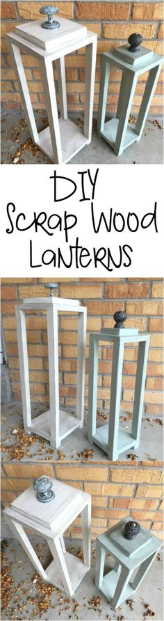 Home Decoration Christmas Make your own lanterns all from scrap wood. Great use of all that scrap wood laying around.Home Decoration Christmas Make your own lanterns all from scrap wood. Great use of all that scrap wood laying around. Wood Projects That Sell, Scrap Wood Projects, Easy Woodworking Projects, Diy Projects To Try, Pallet Projects, Woodworking Plans, Project Ideas, Diy Pallet, Craft Projects