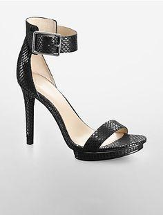 Image for vivian diamond pattern platform sandal from Calvin Klein