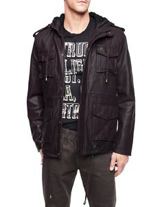 Hint hint.. True Religion's Sable Military Leather Jacket is on my wish list
