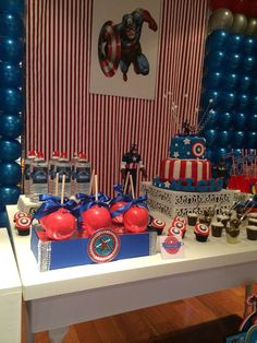 Captain America Birthday Party Ideas   Photo 32 of 32   Catch My Party