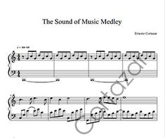 The Sound Of Music (Medley) - Piano Sheet Music now available on ErnestoCortazar.net Free Music Streaming, Online Music Stores, Piano Sheet Music, Sound Of Music, Words, Piano Score, Sheet Music For Piano, Horse