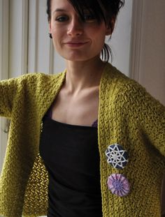 Cardigan Design by Lily Chin, badges by Sidsel Sangil.
