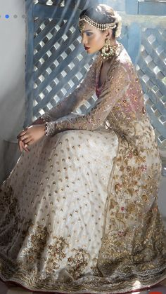 ce9a592c1261 Simply love this ensemble, even the same colors as it is. Pakistani Wedding  Dresses