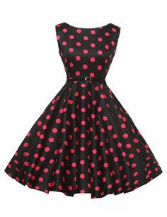 Chic Vintage années 50 's Style Audrey Hepburn Rockabilly Swing robe de fête de pique-nique: Amazon.fr: Vêtements et accessoires