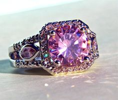 'Sz 7,8,9,10 LC Noble Pink Kunzite Silver Plated Ring' is going up for auction this evening, Wed, Dec 18 in the Ring Showcase auction with a starting bid of $1.