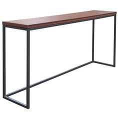 Found it at Wayfair - Spa Bar. Perfect behind the sofa table with stools underneath.