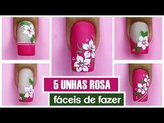 5 Unhas Rosa MAIS FÁCEIS DO MUNDO - YouTube Manicure, Nails, Youtube Nail Art, Instagram, Jesus Cristo, Beauty, Ideas Para, Jr, Nail Art Flowers