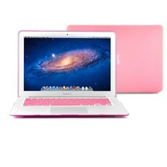 """GMYLE (TM) Pink Rubberized See Through Hard Shell Snap On Carrying Case Skin Slim Fit for 13 """" Apple Macbook Air - With Pink Protective Keyboard Cover (with 1 Year Warranty from GMYLE) [Fit for 2013 model] GMYLE,http://www.amazon.com/dp/B005JALQGI/ref=cm_sw_r_pi_dp_9rCmtb115V9AKVTP"""