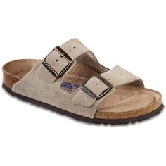 Birkenstock Arizona Soft Footbed Sandals - Women's (8.085 RUB) ❤ liked on Polyvore featuring shoes, sandals, birkenstock footwear, summer sandals, birkenstock, summer footwear and summer shoes