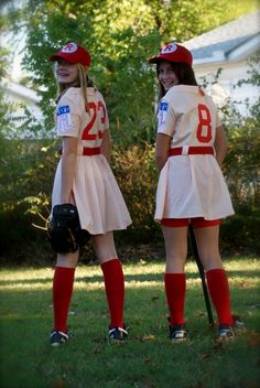 A league of their own costumes...THIS HAS TO BE THE BEST COSTUME EVER!