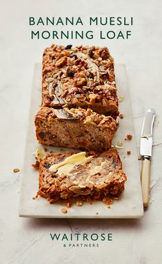 With no added refined sugar, this banana and muesli loaf is delicious as an afternoon treat or lightly toasted for breakfast with honey. Tap for the full Waitrose & Partners recipe.
