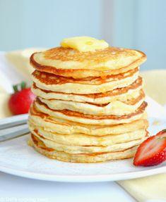 Perfect Lemon Ricotta Bundt Cake | Del's cooking twist Pancakes Easy, Breakfast Pancakes, Breakfast Recipes, Homemade Pancakes, Banana Pancakes, Breakfast Casserole, Breakfast Ideas, Homemade Buttermilk, Coffee Recipes