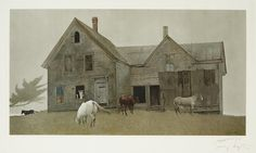 Andrew Wyeth - OPEN HOUSE, 1980, Color collotype